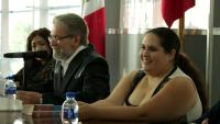 Liza Di Georgina con el maestro Jesús Chávez Marín.